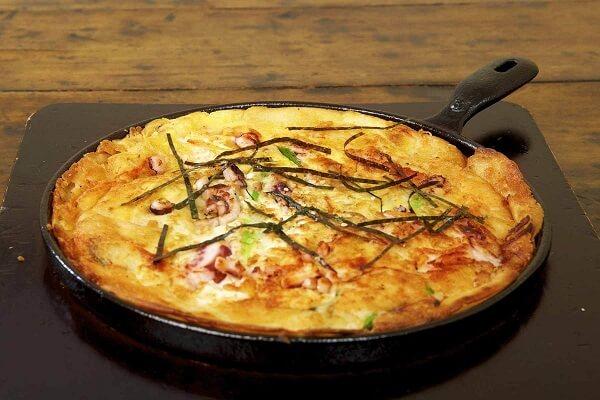 cách làm bánh hải sản bánh Haemul Pajeon