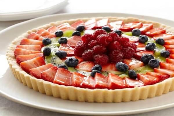 cách làm bánh tart hoa quả trái cây kem custard