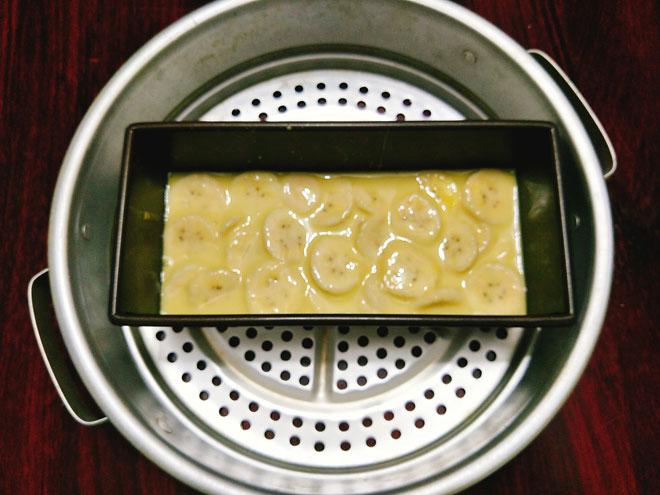 cách làm bánh chuối hấp dẻo trong