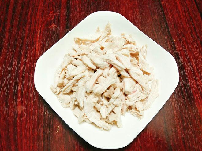 Cách làm ruốc thịt gà