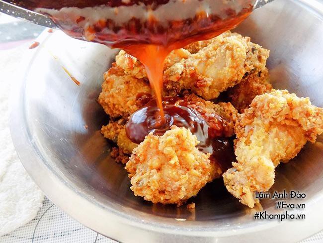 cách làm gà chiên giòn sốt ngọt