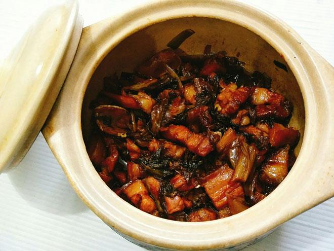cách làm món thịt kho dưa mặn ngon đậm đà